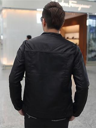 Áo khoác da đen ak132 - 2