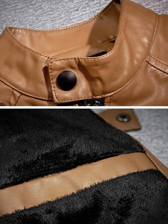 Áo khoác da màu bò ak132 - 2