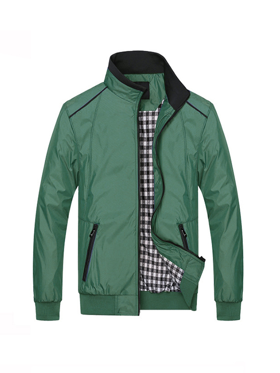 Áo khoác dù xanh rêu ak137 - 1