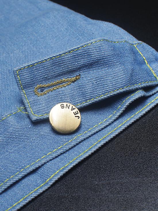 Áo khoác jean xanh da trời nhạt ak135 - 3