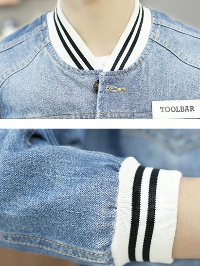 Áo khoác jean xanh da trời nhạt ak136 - 2