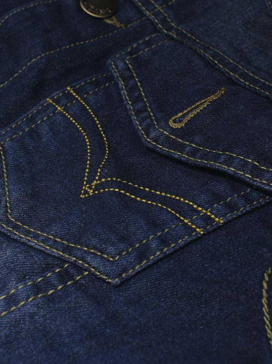 Áo khoác jean xanh đen ak135 - 2