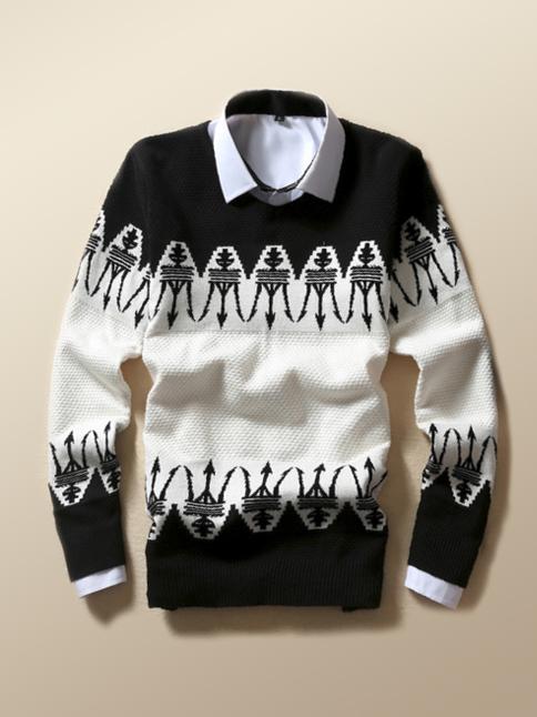 Áo len đen al66 - 1