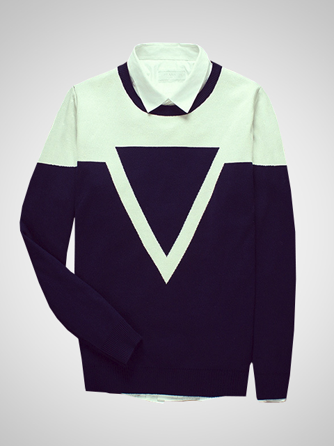 Áo len xanh đen al61 - 1