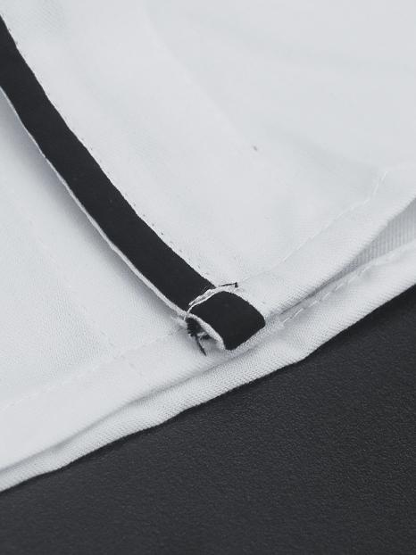 Áo sơ mi trắng phối đen asm650 - 3