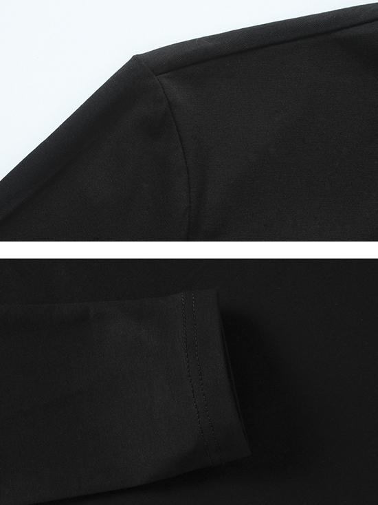 Áo thun tay dài đen at544 - 2