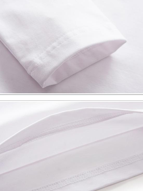 Áo thun tay dài trắng at544 - 3