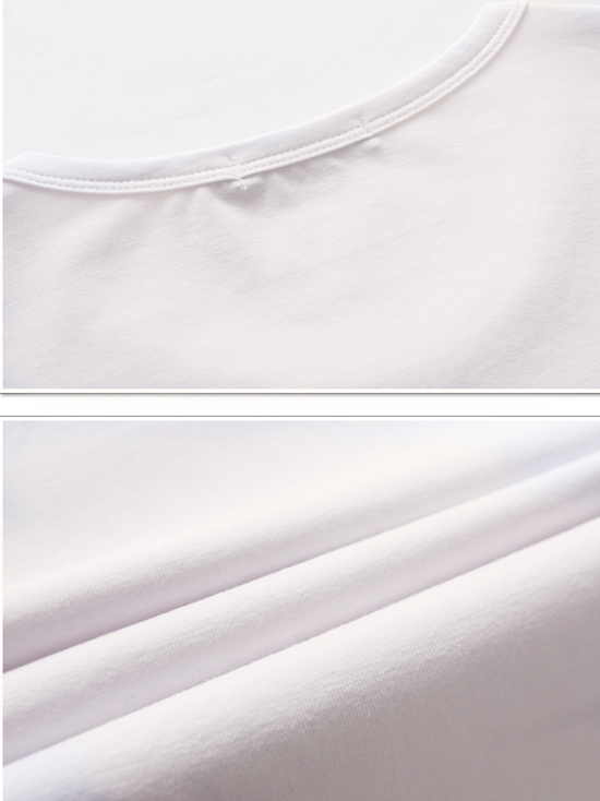 Áo thun tay dài trắng kem at544 - 2