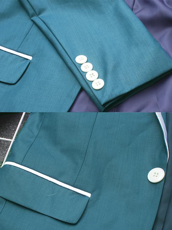 Áo vest cao cấp xanh cổ vịt av2l1074-2 - 2