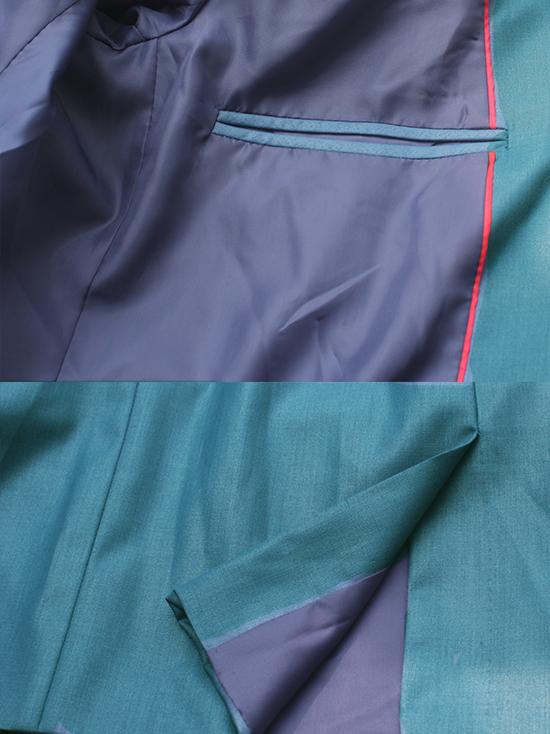 Áo vest cao cấp xanh cổ vịt av2l1074-2 - 3