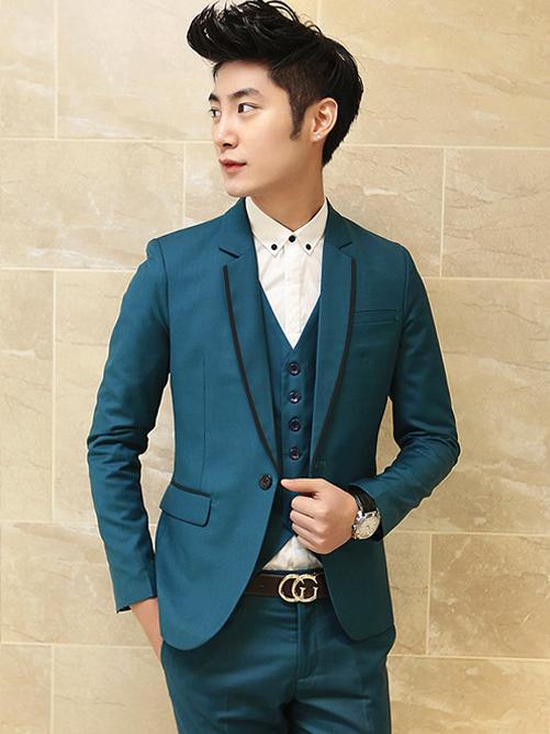 Áo vest cao cấp xanh cổ vịt av2l1074 - 1