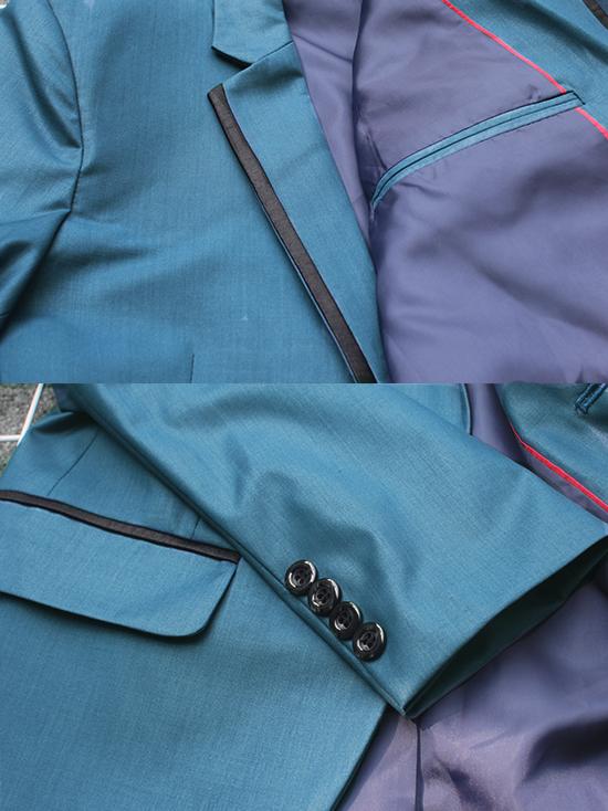 Áo vest cao cấp xanh cổ vịt av2l1074 - 2