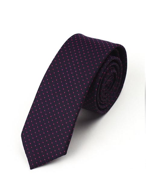 Cà vạt hàn quốc chấm bi tím cv09 - 1
