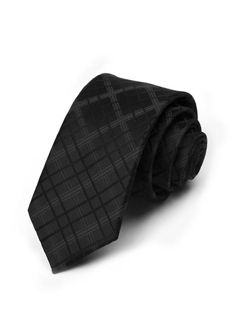 Cà vạt hàn quốc đen cv21 - 1