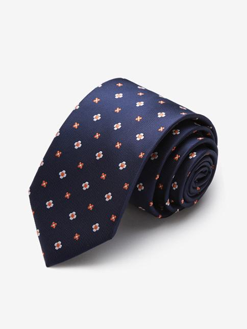 Cà vạt nam hàn quốc họa tiết xanh đen cv04 - 1