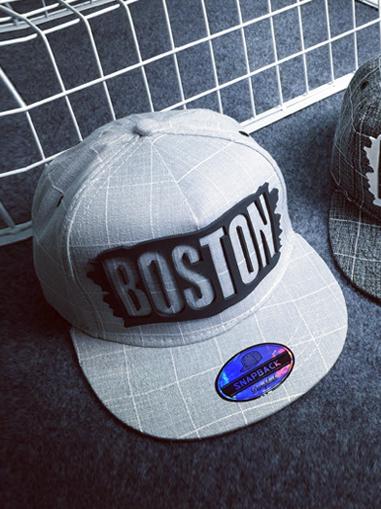 Nón snapback boston xám chuột n163 - 1