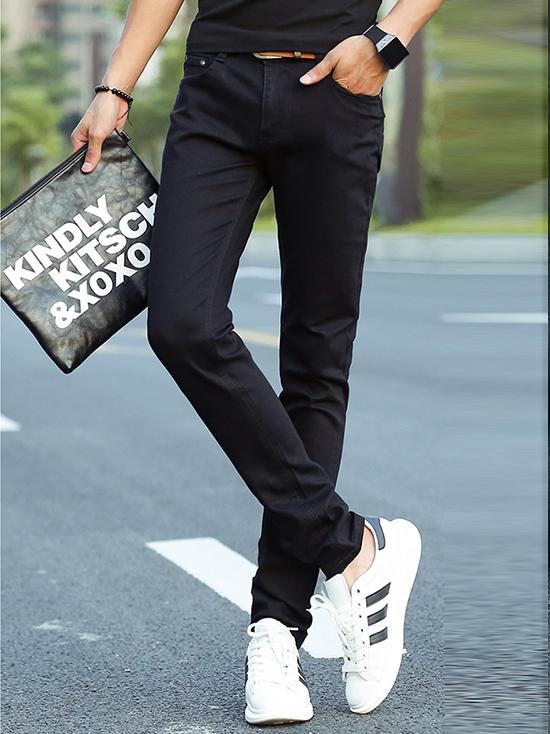 Quần jean skinny xanh đen trơn qj1238 - 1