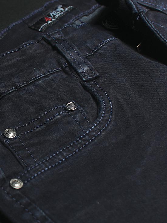 Quần jean skinny xanh đen trơn qj1238 - 3