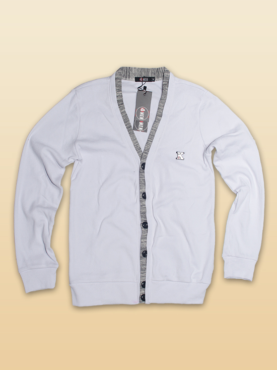 Áo khoác cardigan trắng ac086 - 1