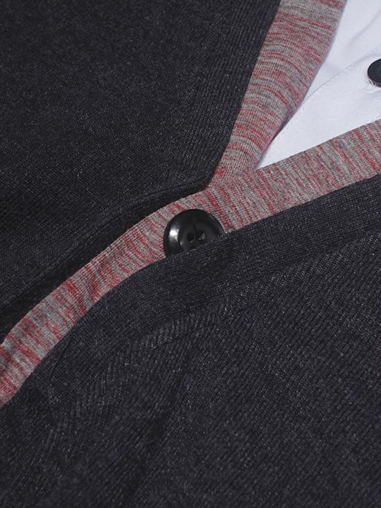 Áo khoác cardigan xám chuột đậm ac086-2 - 3