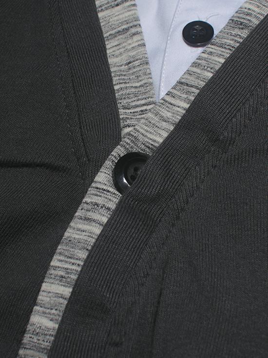 Áo khoác cardigan xám chuột đậm ac086 - 3