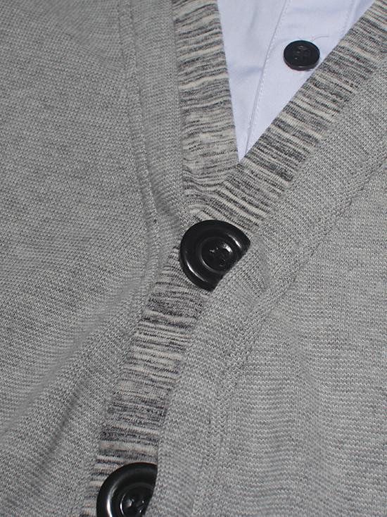 Áo khoác cardigan xám muối tiêu ac086 - 3