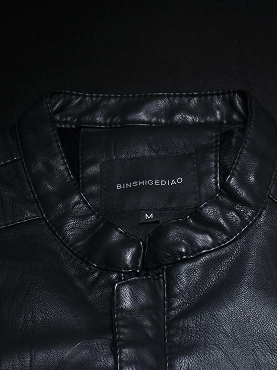 Áo khoác da đen ak142 - 3