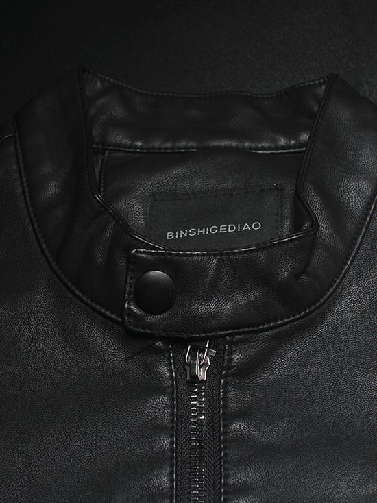 Áo khoác da đen ak143 - 2
