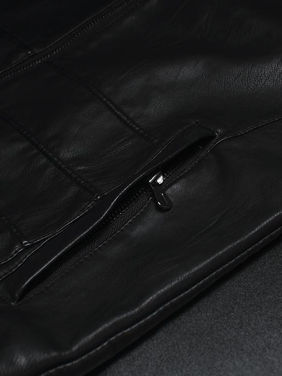 Áo khoác da đen ak143 - 3