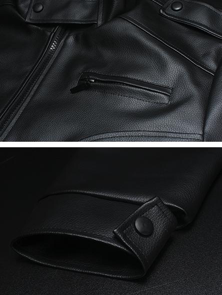 Áo khoác da đen ak144 - 2
