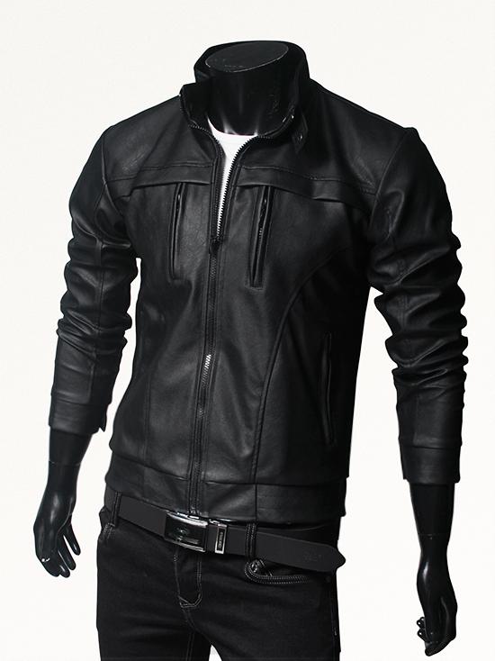 Áo khoác da đen ak146 - 1