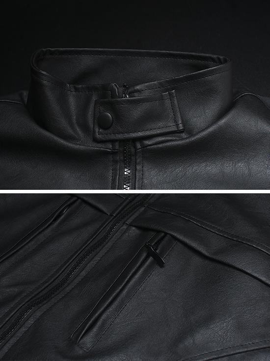 Áo khoác da đen ak146 - 2