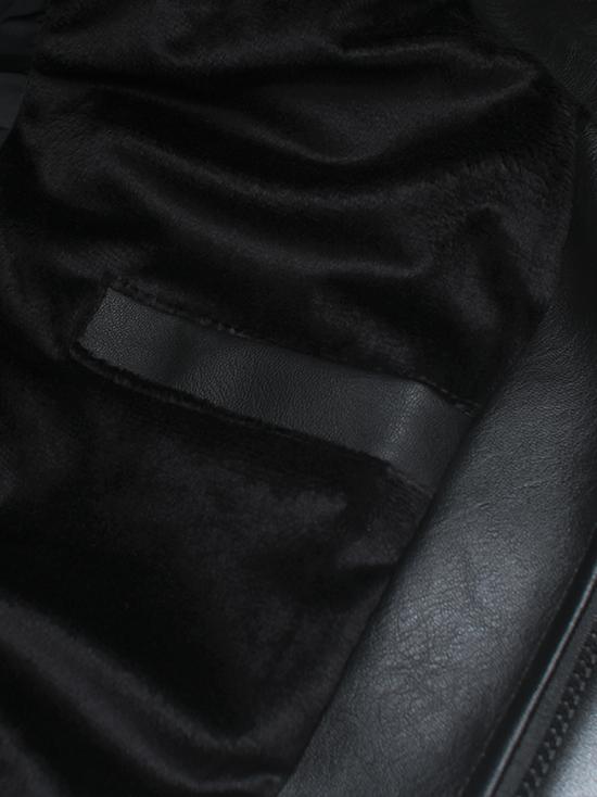 Áo khoác da đen ak146 - 3