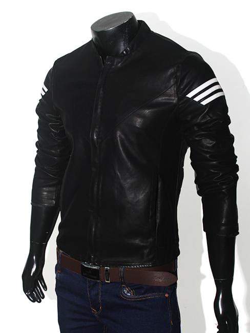 Áo khoác da đen ak148 - 1