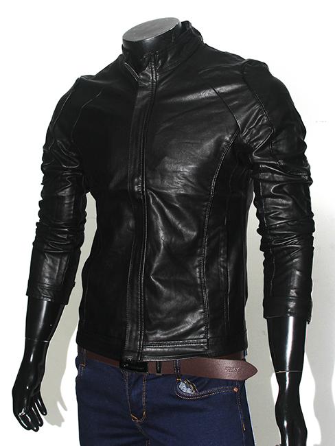 Áo khoác da đen ak149 - 1