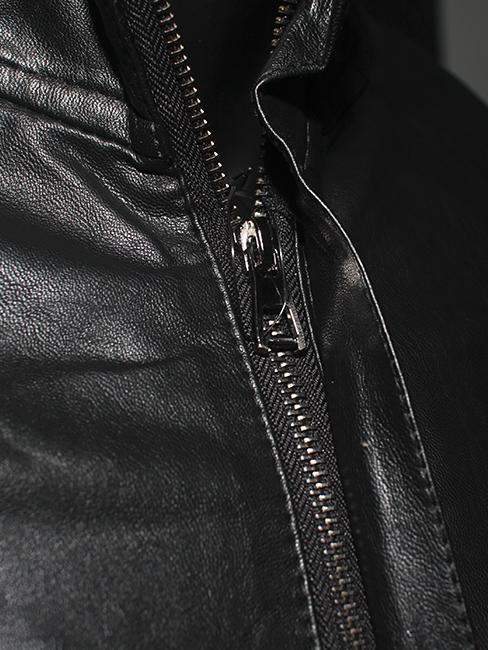 Áo khoác da đen ak149 - 2