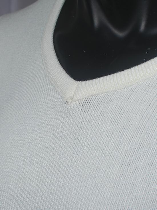 Áo len trắng kem al80 - 2