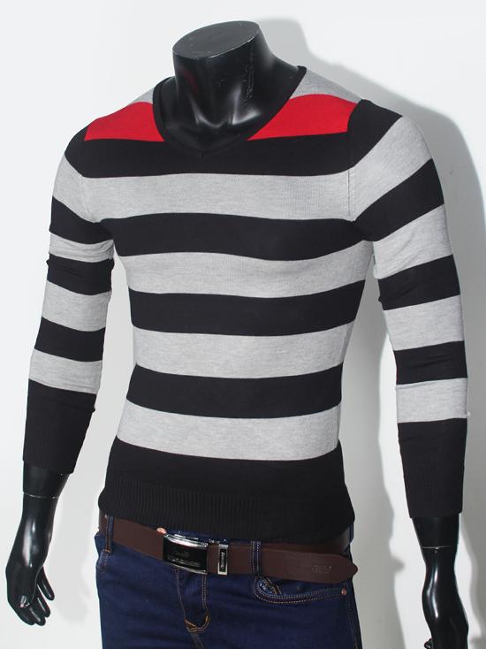 Áo len sọc đen al68 - 1
