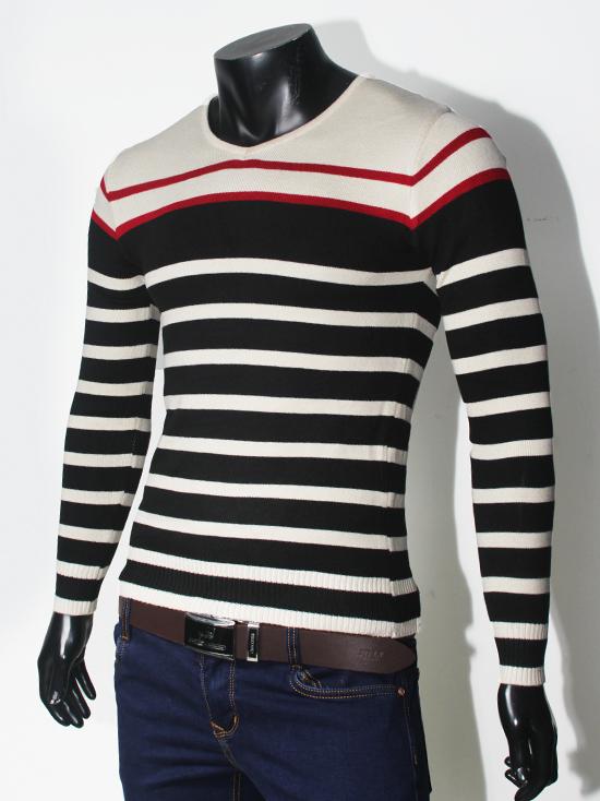 Áo len sọc đen al71 - 1
