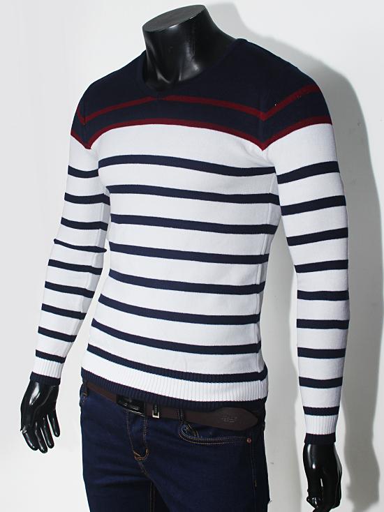Áo len sọc trắng al71 - 1