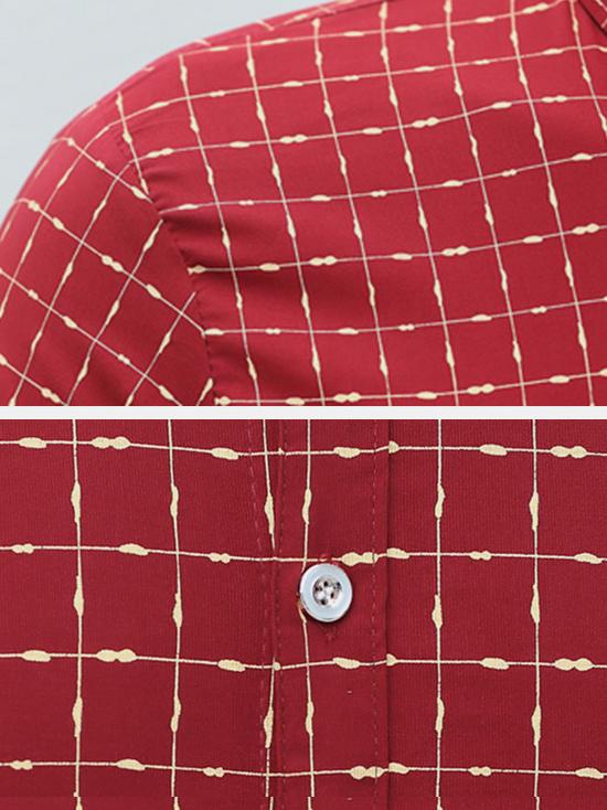 Áo sơ mi đỏ sọc caro asm672 - 3