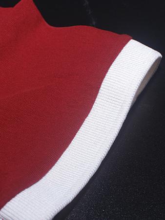 Áo thun có cổ đỏ đô at552 - 3