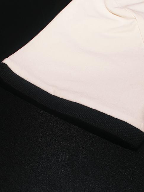 Áo thun có cổ trắng kem at551 - 3
