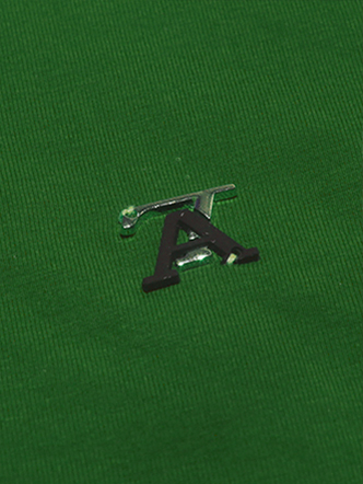 Áo thun có cổ xanh lá cây at551 - 3