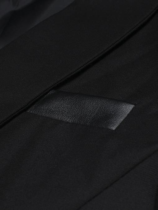 Áo vest cao cấp đen phối da av1080 - 2