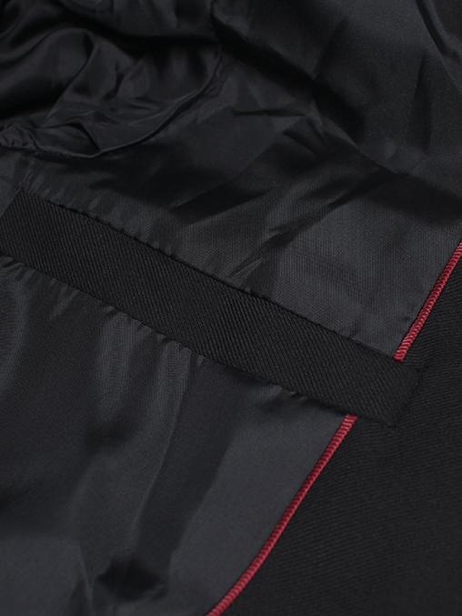 Áo vest cao cấp đen phối da av1080 - 3