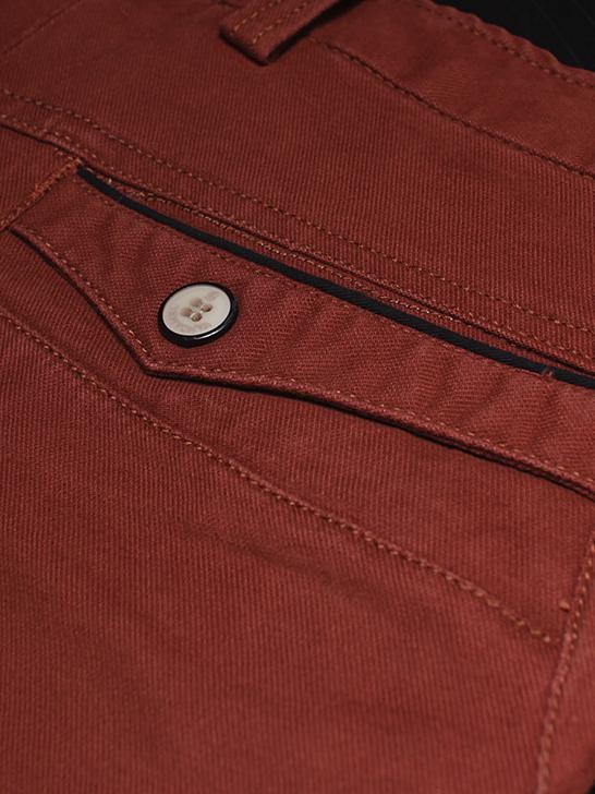 Quần kaki hàn quốc đỏ cam qk138 - 2