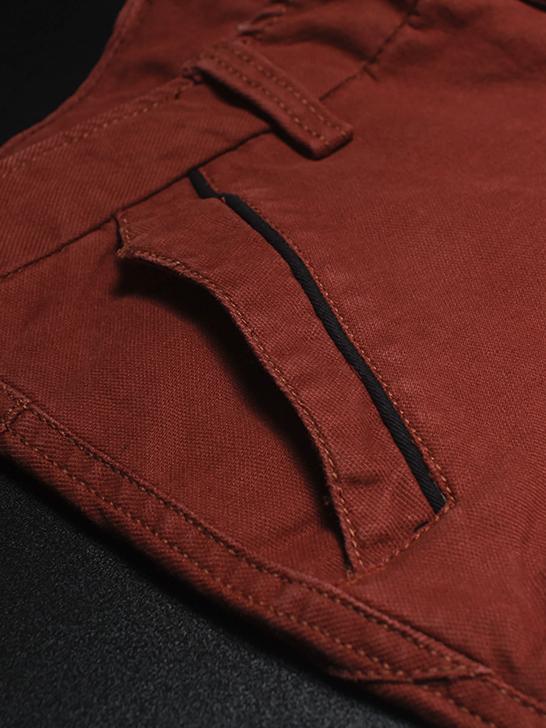 Quần kaki hàn quốc đỏ cam qk138 - 3
