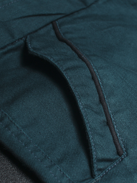 Quần kaki hàn quốc xanh cổ vịt qk138 - 3