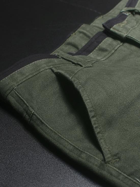 Quần kaki hàn quốc xanh rêu qk136 - 2